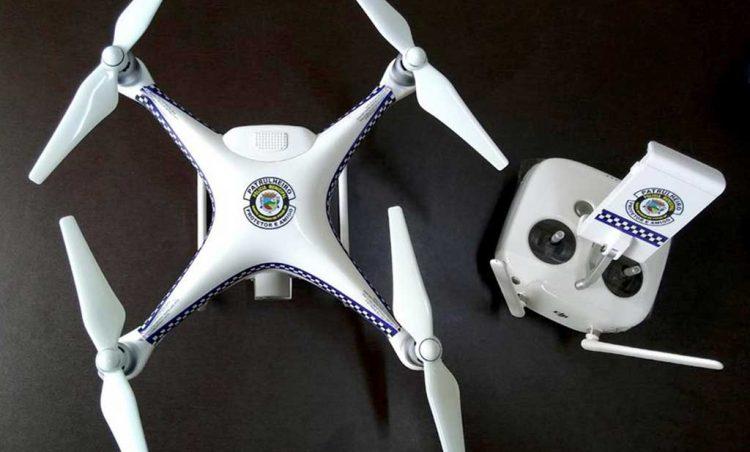 Drones reforçam a segurança do município