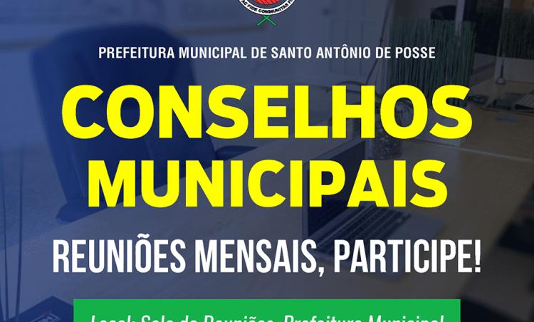 Reuniões de Conselhos Municipais acontecem nas próximas semanas