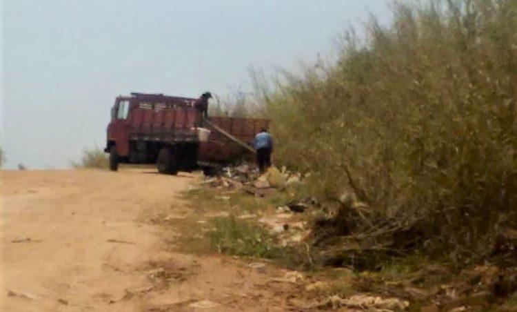 Polícia Municipal faz novo flagrante de descarte irregular de lixo