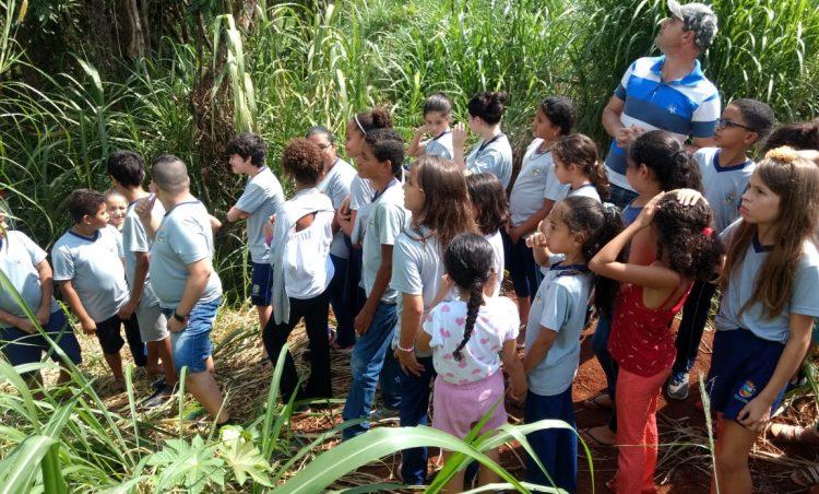Departamento de Meio Ambiente realiza mais uma visita à nascente modelo com alunos