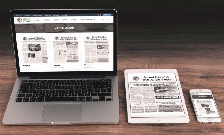 Site da Prefeitura é atualizado com toda as edições dos Jornais Oficiais