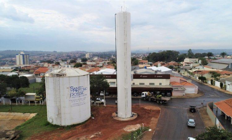 Instalado novo reservatório de água em Santo Antônio de Posse