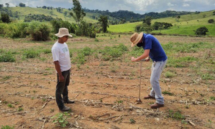 Orientação e acompanhamento na análise do solo